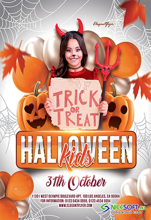 Halloween Kids V27095 2019 Premium PSD Flyer Template