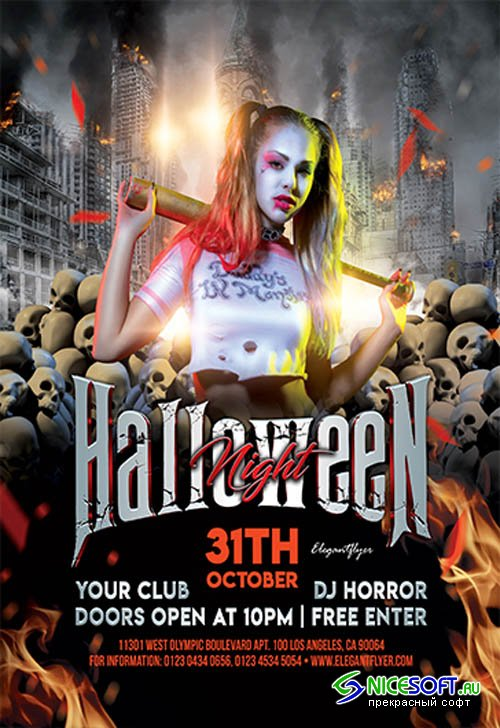 Halloween Night V27094 2019 Premium PSD Flyer Template