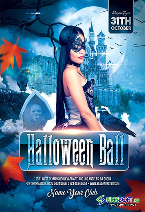 Halloween Ball V27097 2019 Premium PSD Flyer Template