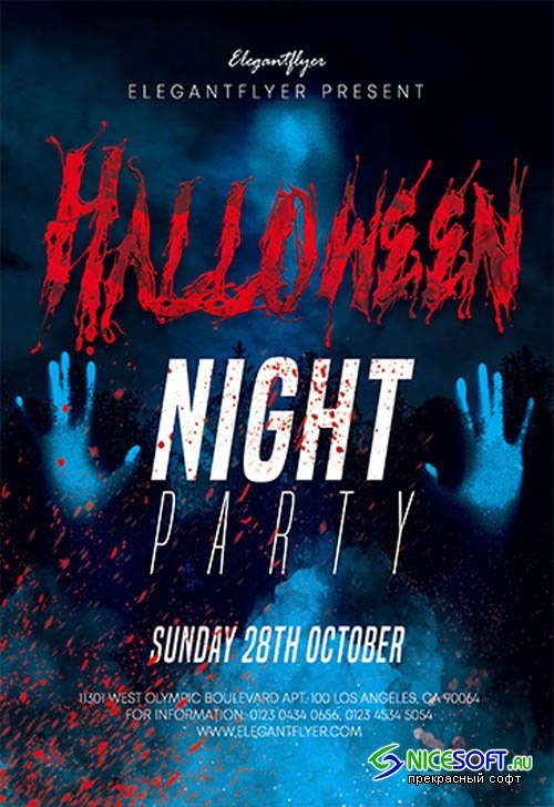 Halloween V27092 2019 Premium PSD Flyer Template