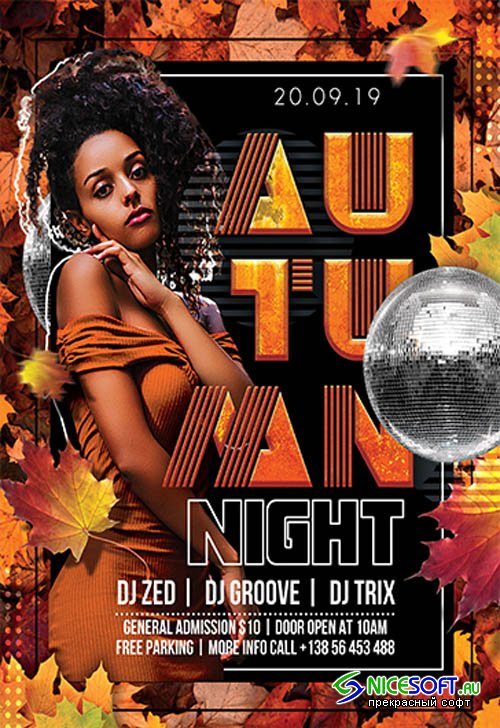 Autumn Night V2709 2019 Premium PSD Flyer Template