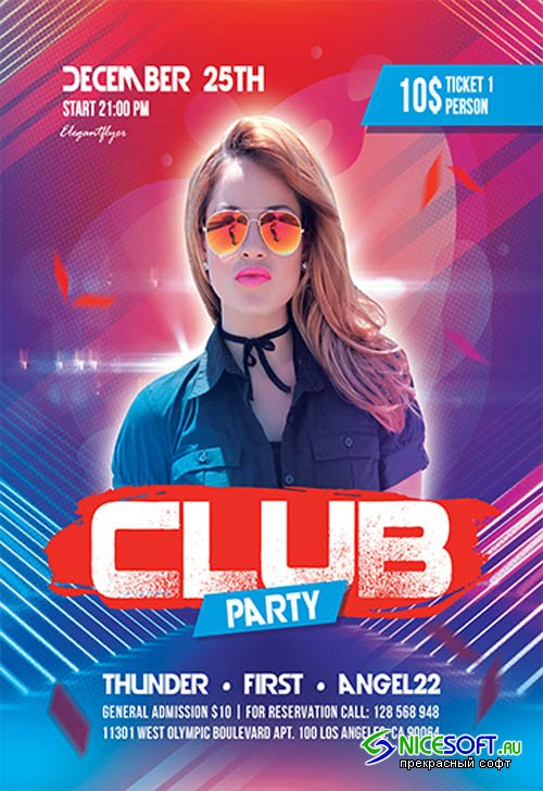 Club Party V2709 2019 Premium PSD Flyer Template