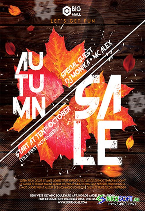 Autumn Sale V2709 2019 Premium PSD Flyer Template