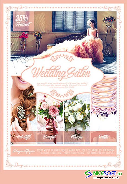 Wedding Salon V0310 2019 PSD Flyer Template
