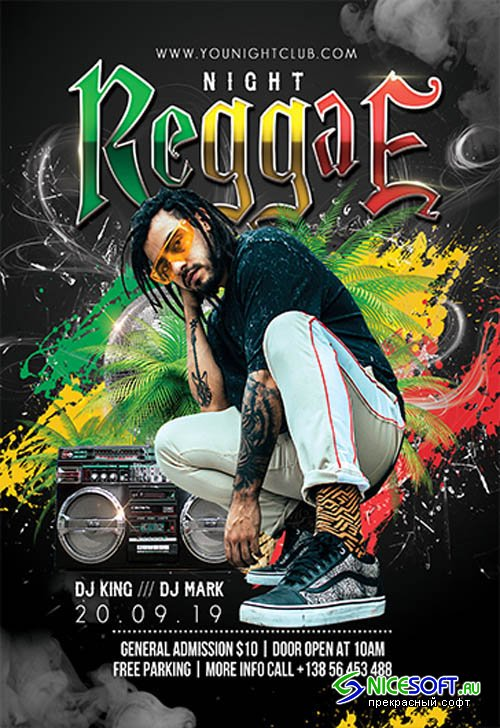 Reggae Night V0210 2019 Premium PSD Flyer Template