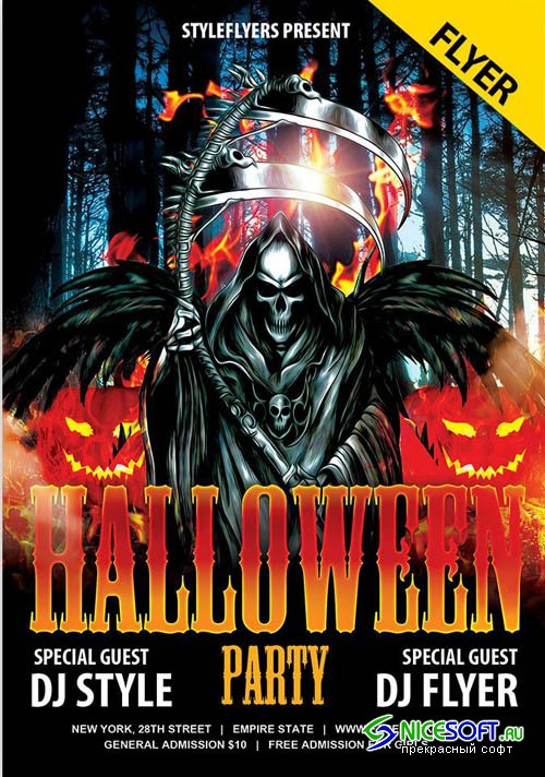 Halloween Party V004102 2019 PSD Flyer Template