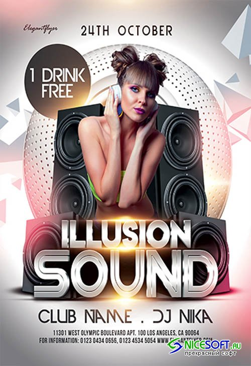 Illusion Sound V0910 2019 Premium PSD Flyer Template