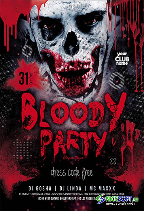 Bloody Party V0910 2019 Premium PSD Flyer Template
