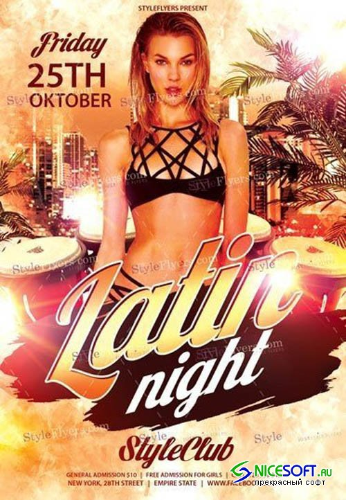 Latin Night V0910 2019 PSD Flyer Template