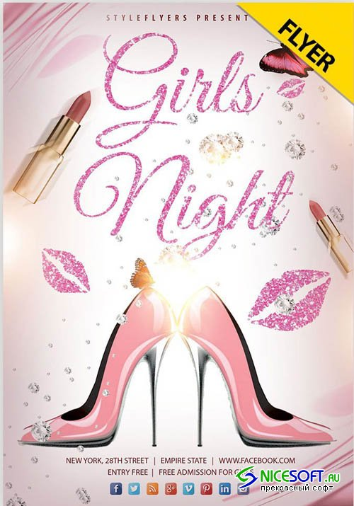 Girls Night V0910 2019 PSD Flyer Template