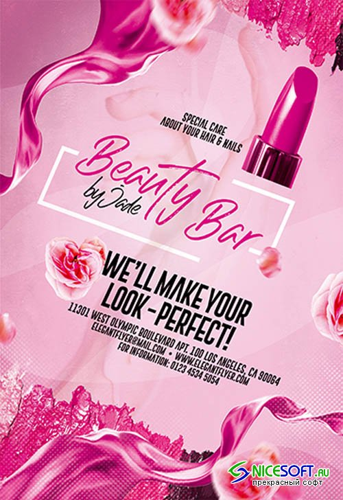 Beauty Bar V0910 2019 Premium PSD Flyer Template