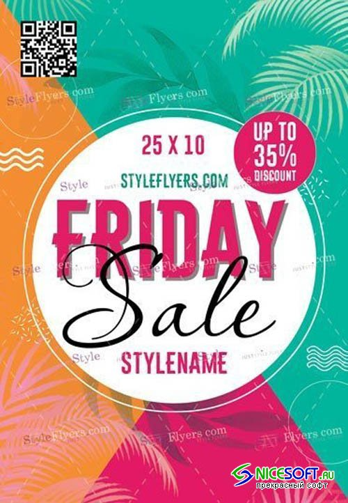 Friday Sale Flyer V0910 2019 PSD Flyer Template