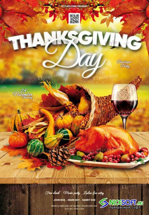 Thanksgiving Day V0910 2019 PSD Flyer Template