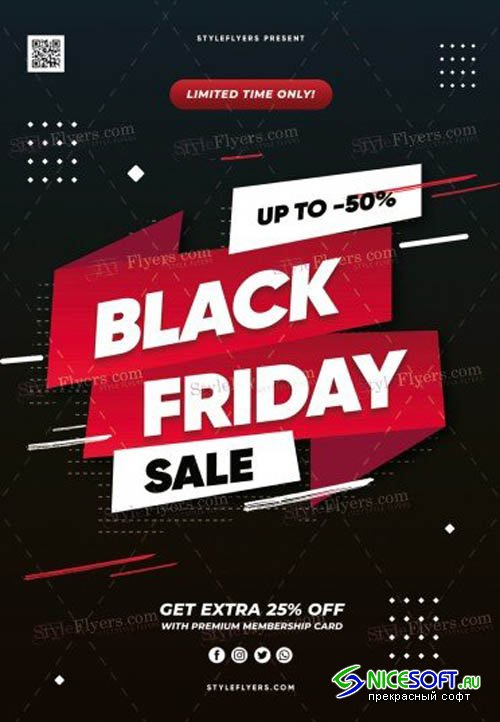 Black Friday Sale V1810 2019 PSD Flyer Template