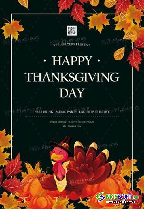 Thanksgiving Day V3010 2019 PSD Flyer Template