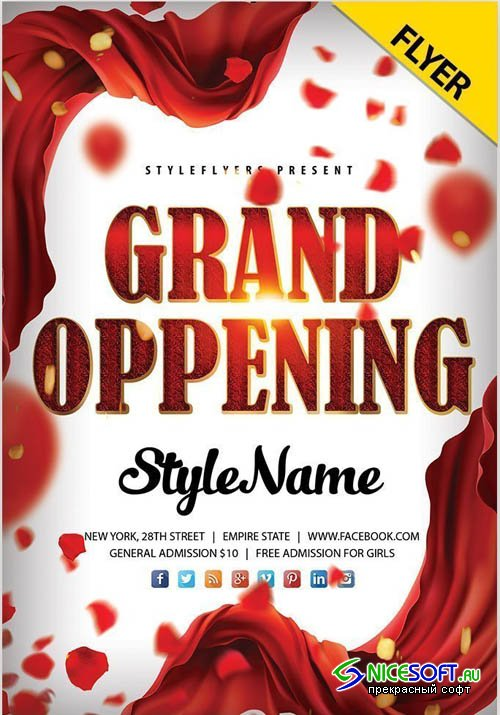 Grand Oppening V0911 2019 PSD Flyer Template