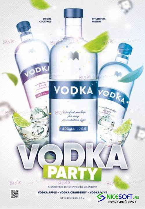 Vodka Party V0911 2019 PSD Flyer Template