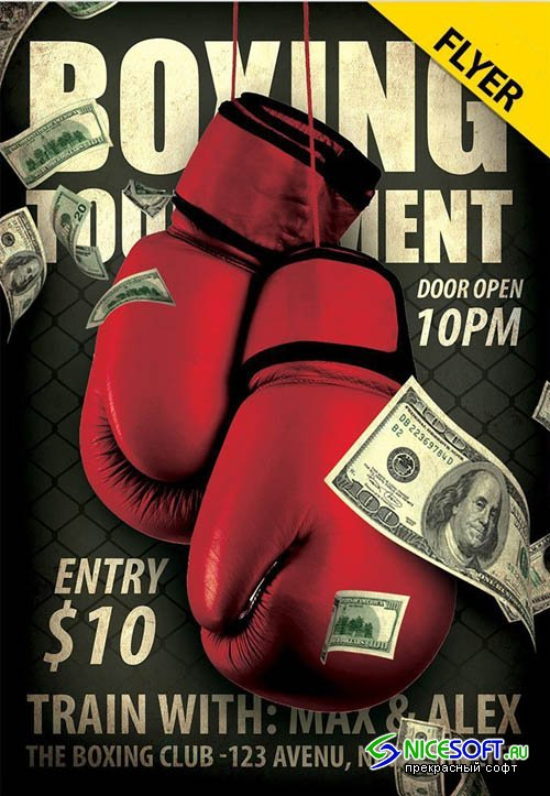 Boxing Tournament V0911 2019 PSD Flyer Template