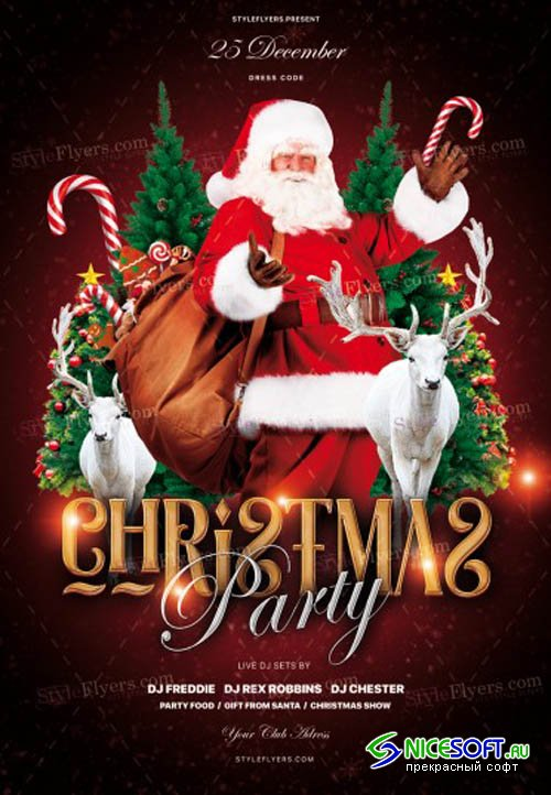 Christmas Party V1711 2019 PSD Flyer Template