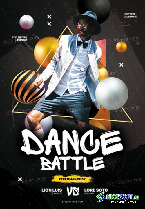 Dance Battle V1711 2019 PSD Flyer Template