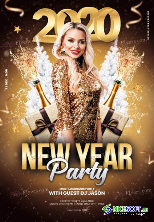 2020 New Year Party V1711 2019 PSD Flyer Template