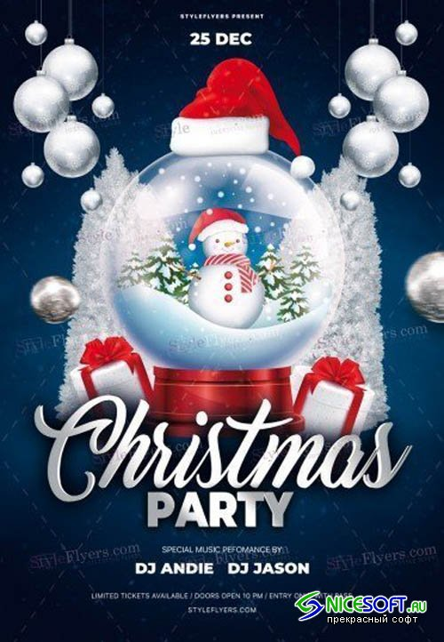 Christmas Party V0112 2019 PSD Flyer Template