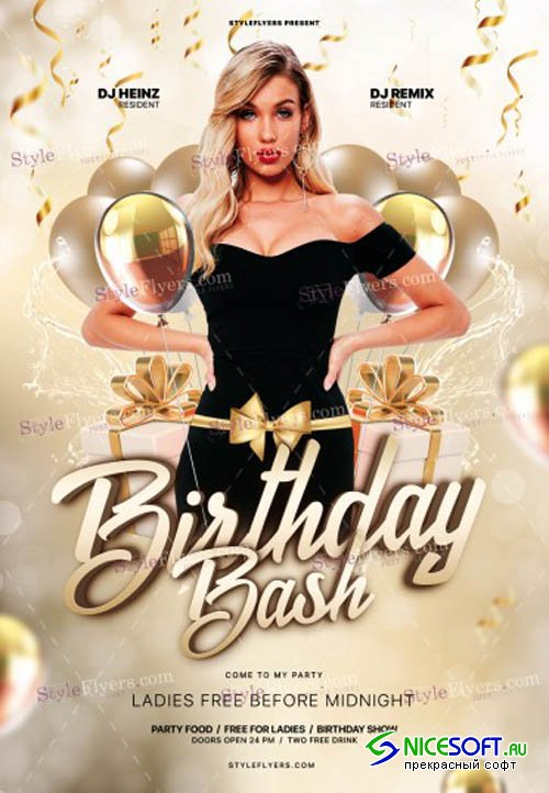 Birthday Bash V0212 2019 PSD Flyer Template
