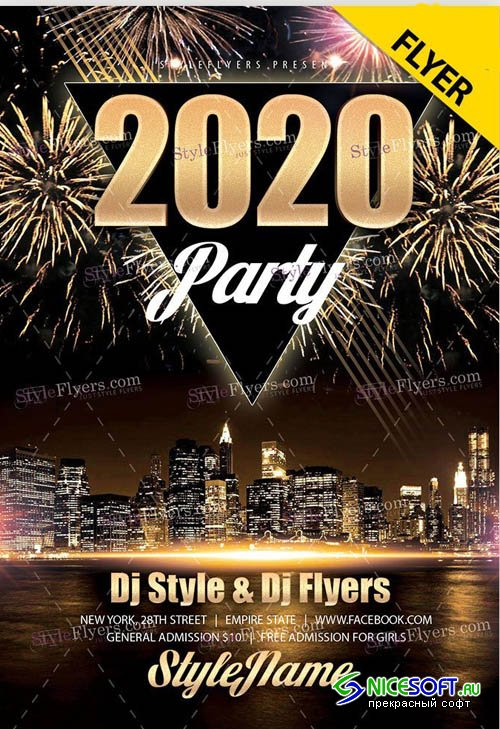 2020 Party V0312 2019 PSD Flyer Template
