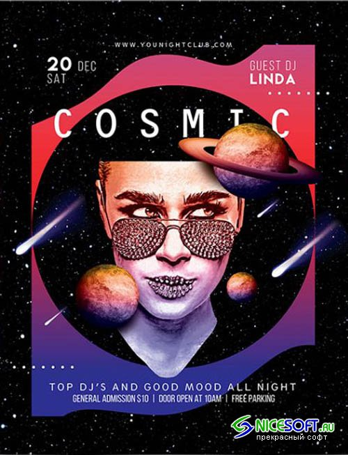 Cosmic Party V1201 2020 Premium PSD Flyer Template