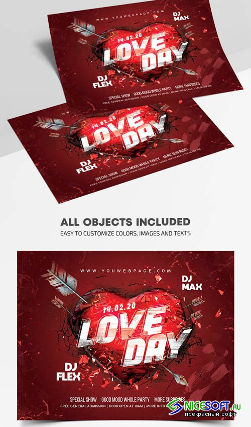 Love Day V1201 2020 Premium PSD Flyer Template