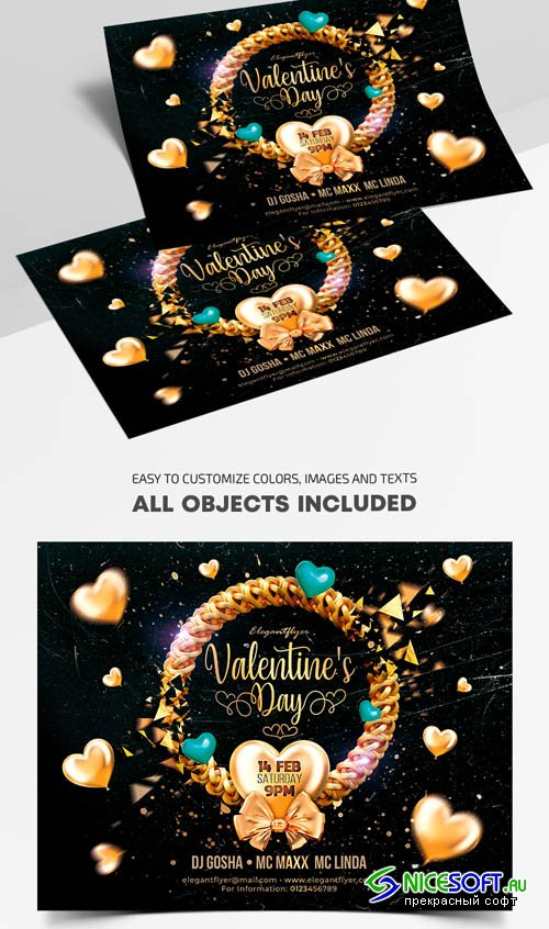 Valentines Day V1201 2020 Premium PSD Flyer Template